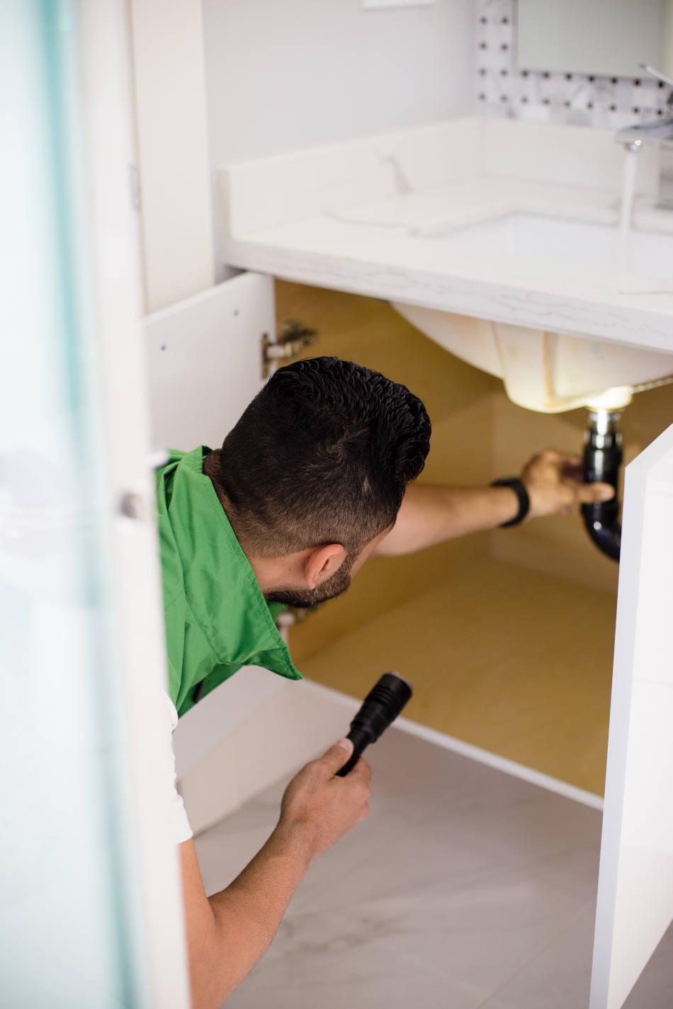 Checking plumbing